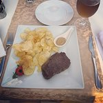 Fantastic steak with hand cut chips