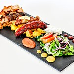 Bestseller! Pikilia- mixed platter of four types of meat, comes with salad, potatos and a tasty