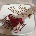 Birthday Cheesecake with chocolate chips