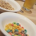 Juice and cereal