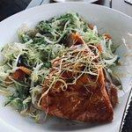 Grilled Teriyaki Salmon Salad