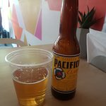 New beer for me. Pacifico went well with my Beef tacos