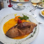 Duck with orange sauce
