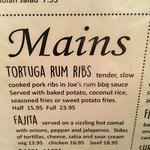 Tortuga Rum Ribs, I had the half Ribs.