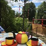 Tea for two with a tasty lunch by the river