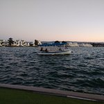 BOATING IN THE EVENING AT LAGOON