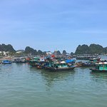 Trip with Indochina Sails crew and fellow passengers to a local floating fishing village