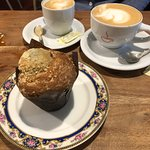 Coffees and muffin