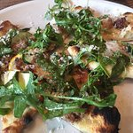 Flatbread with sausage and arugula!