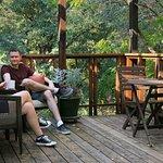 Village Cabin deck