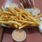 family sized fries.