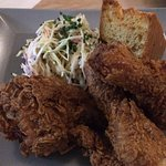 Fried Chicken with fennel slaw