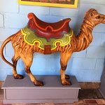 One of several vintage carousel animals