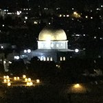 Night views from the top of the Mount of Olives- of the place of the Jewish Holy Temple