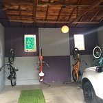 Carport and bikes to borrow