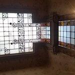 le vetrate ed il lucernario del cavedio