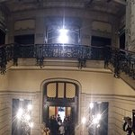 la scalinata al secondo piano