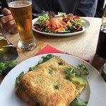 Sandwich and salmon salad