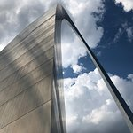 The St. Louis Arch is located across the street from the hotel. An impressive sight.