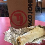 Cheese snack quesadilla & steak&shrimp burrito