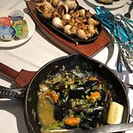 Sea snails and super tasty mussels
