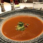 gazpacho with lobster and avocado