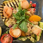 Scallops with couscous