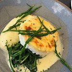 Lobster and hake thermidor