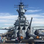 Front view of the USS Iowa