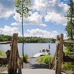 acces au lac ete comme hiver