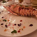This beautiful lobster was the centrepiece, it was the birthday dish 🎉🎈🍰