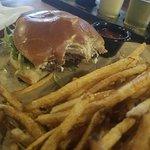 Blue Ridge Burger - slice of fried apple w/ goat cheese