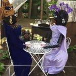Ladies having tea in the garden