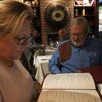 Steve and Shelba looking at the menu