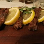 Lamb chops main course - just a bit tough