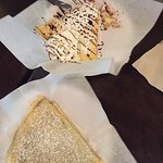 Bavarian Custard and Chocolate Crepe, Cinnamon and Sugar Crepe