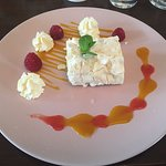 Mango and passion fruit roulade
