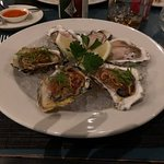 Oysters 3 Ways. (Thai inspired was delicious)