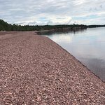 Pink beach in Two Harbors.