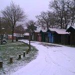 En mars la neige avait tenue le temps de la photo...