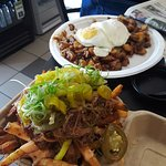 voodoo fries and brisket hash