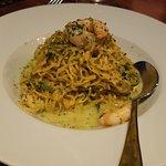 Tagliolini with Zucchini and shrimp