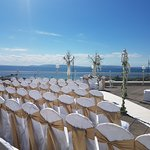 Wedding Venue in the Seaview Terrace in the Galway Bay Hotel.