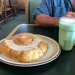 What a cinnamon roll!!!!! It was as good as it looks. Staff was very friendly. Clean facility. A