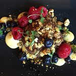 Dessert--Chocolate Mousse with Berries and Pistachios