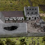Part of the diorama of the battle of waterloo