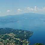 Panorama from the top of the Laveno funivia