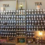 wall of tea