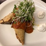 Great starter, the tofu and beans pancake