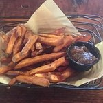 Sweet potato fries with apple butter!